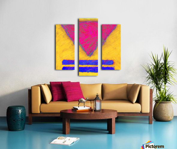INVERTED PINK TRIANGLE Canvas print