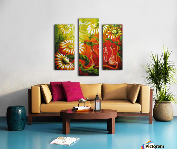 Inspired by music Canvas print