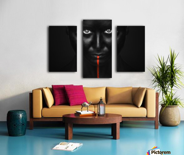 She's got the black Canvas print