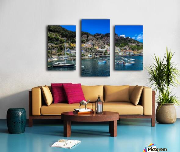 Amalfi Coast Panoramic View Canvas print