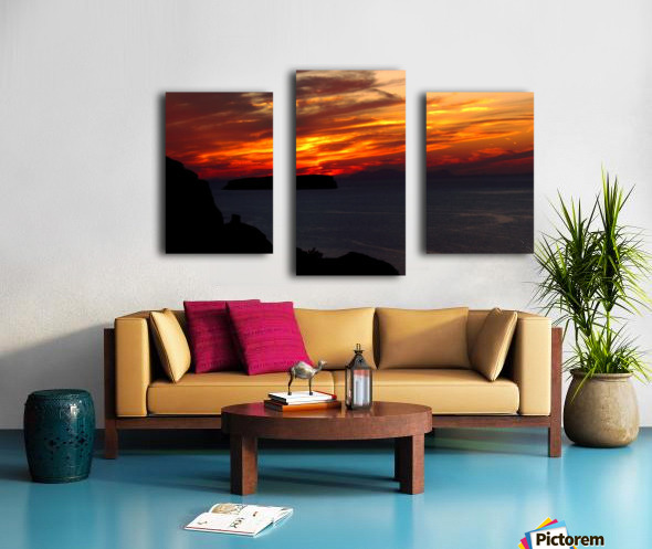 Amazing sunset  Canvas print
