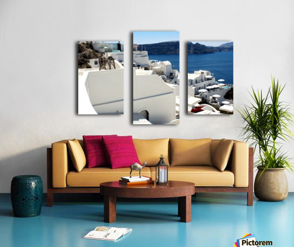 Santorini Landscape - Greece Canvas print