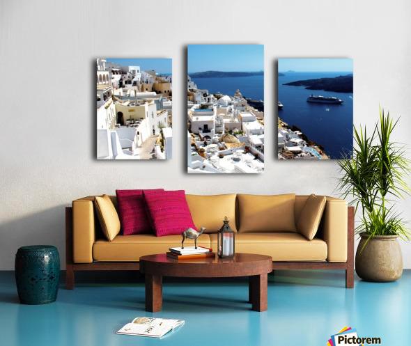Super panoramic view - Santorini - Greece Canvas print
