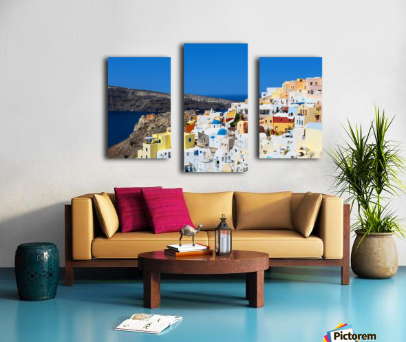 Santorini Landscape - Greece Canvas print