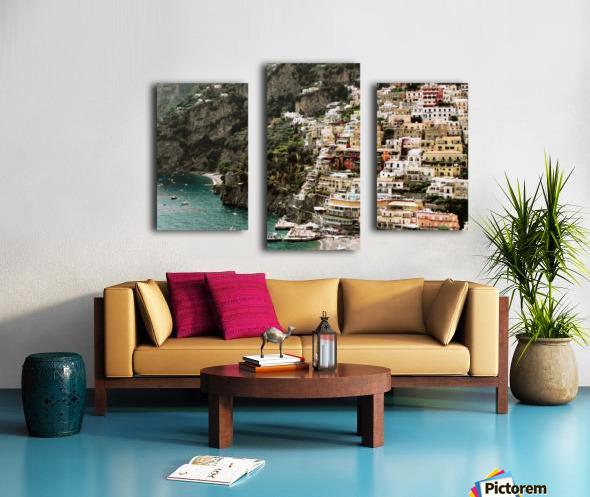 Positano Beach Landscape - Italy Canvas print
