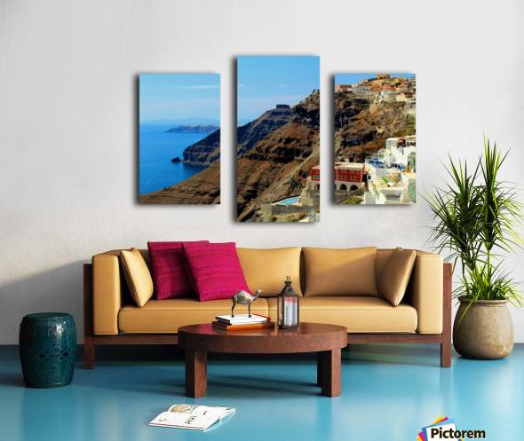 Santorini Mountains Landscape - Greece Canvas print