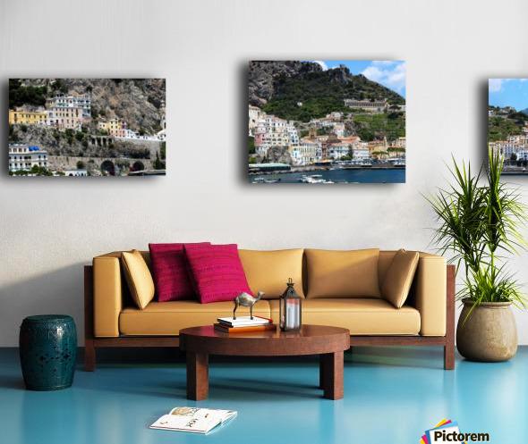 Super panoramic Amalfi City - Italy Canvas print