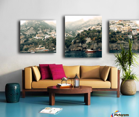 Panoramic Positano - Amalfi Coast - Italy Canvas print