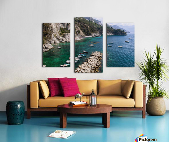 Amalfi Coast - Conca dei Marini Beach - Italy Canvas print