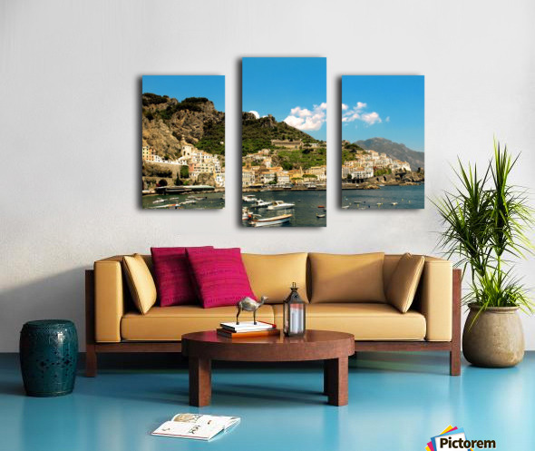 Amalfi Town - Panoramic View - Italy Canvas print
