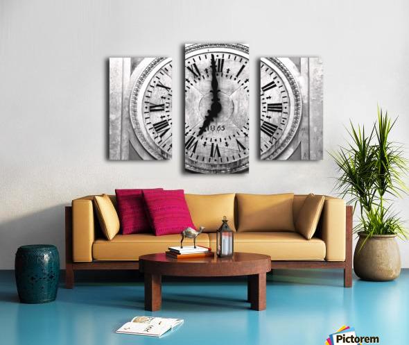 The Old Church Clock Canvas print