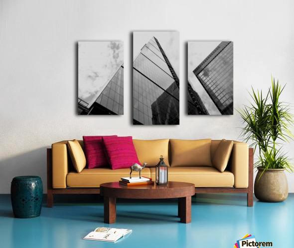 London Skyscraper III - Black and White Canvas print