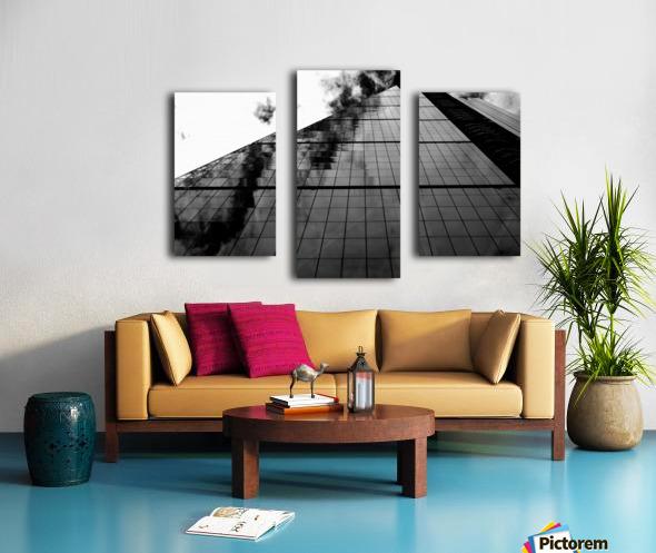 London Skyscraper II - Black and White Canvas print