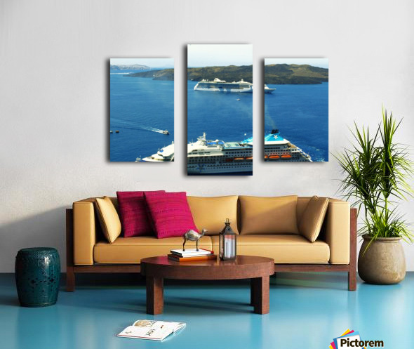 The Cruise Ship in the Blue Ocean Canvas print