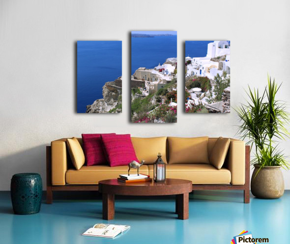 Colourful Santorini Landscape  Canvas print