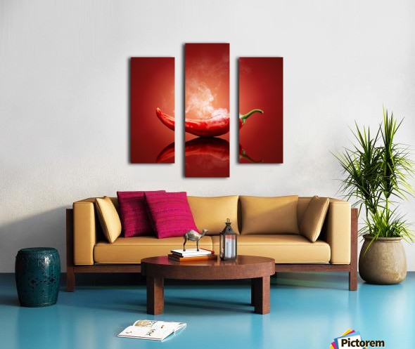 Chili red steaming hot Canvas print