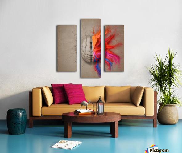 The Creative Brain Canvas print