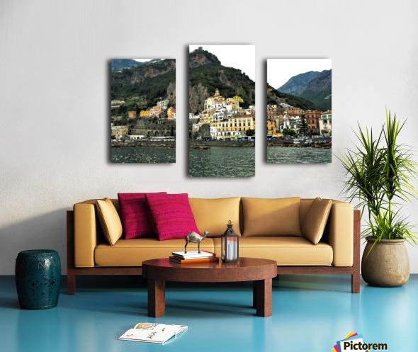 Italian Village Landscape - Amalfi Canvas print