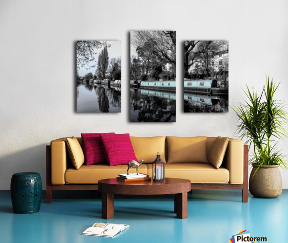 River and boats Canvas print
