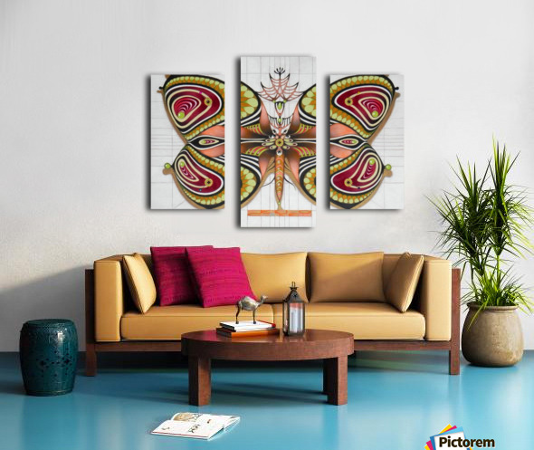 butterfly from the twenties Canvas print