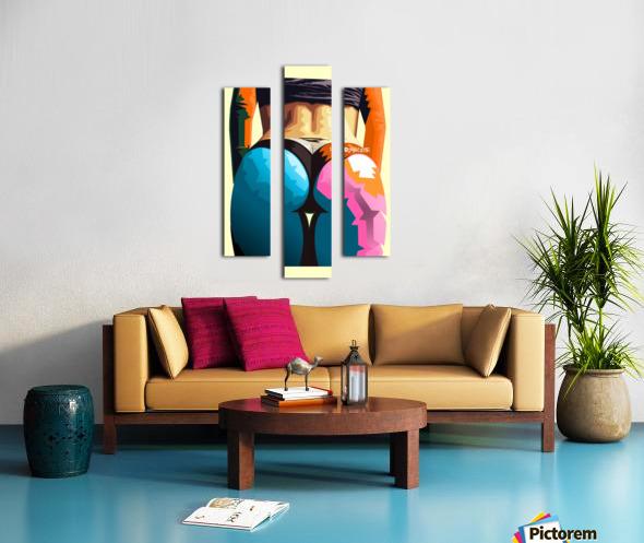 Sky Blue Orange Canvas print