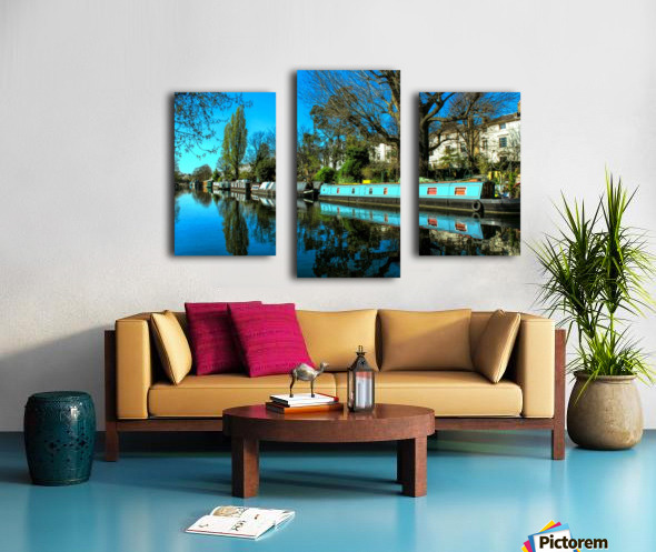 River and Boats - London  Canvas print