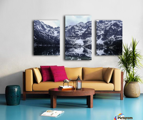 Mountains in the Lake Canvas print
