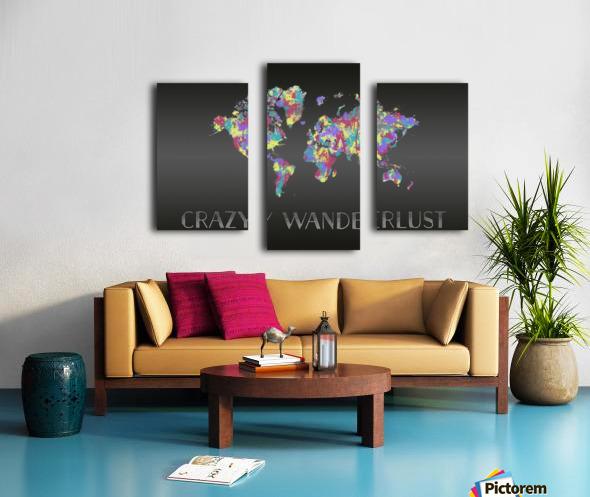 Graphic Art CRAZY WANDERLUST   Splashes Canvas print