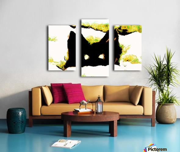 Kitten in snow Canvas print