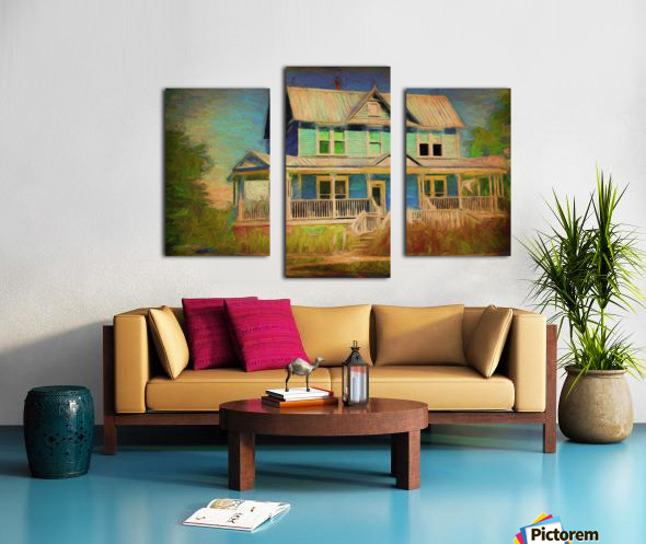Valentine House Oil Canvas print
