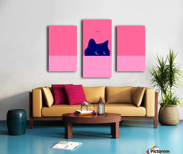 Cat on Deep Pink Canvas print