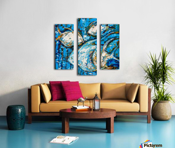 Flow Of Dreams-2 - 18 inch x 18  Canvas print