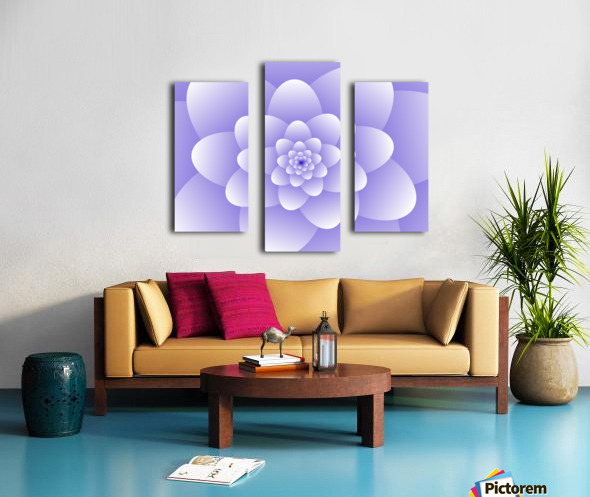 Purple Floral Spiral Artwork Canvas print