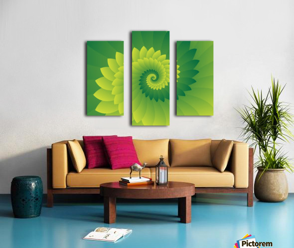Shiny Greeny Art Canvas print
