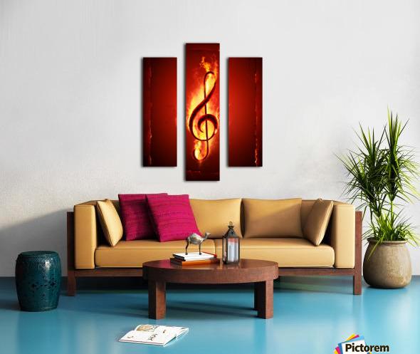 Hot Music Canvas print