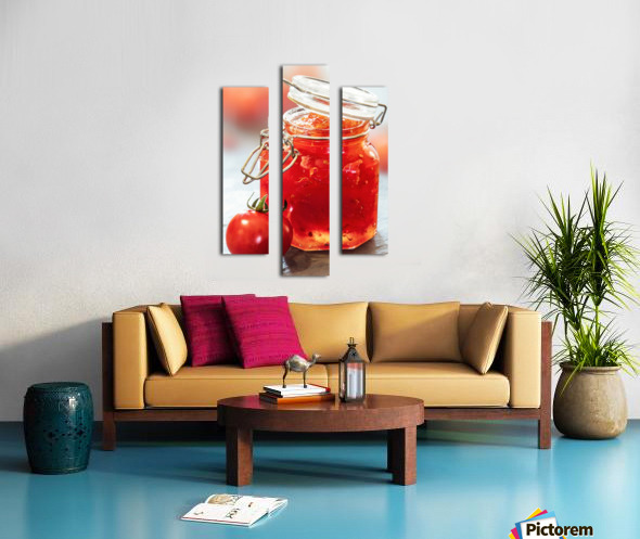 Tomato Jam in Glass Jar Canvas print