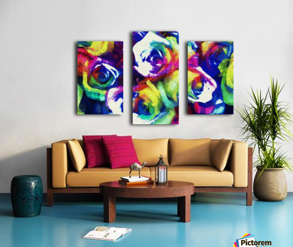 Love Me With Roses Canvas print