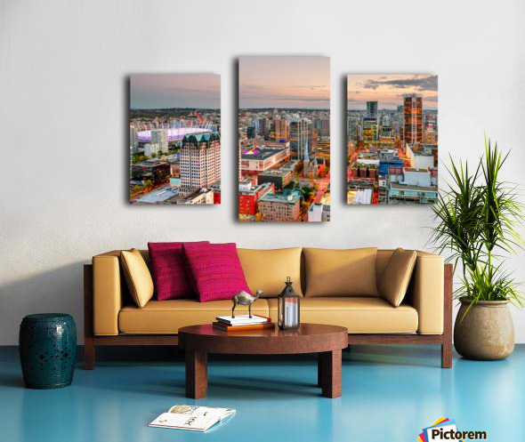 View from above the beautiful twilight in megalopolis Canvas print