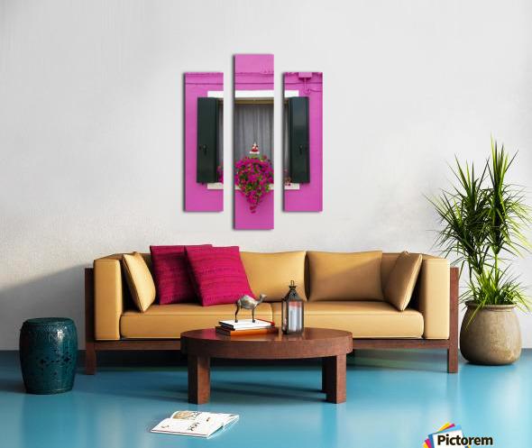Colored window in Burano Canvas print