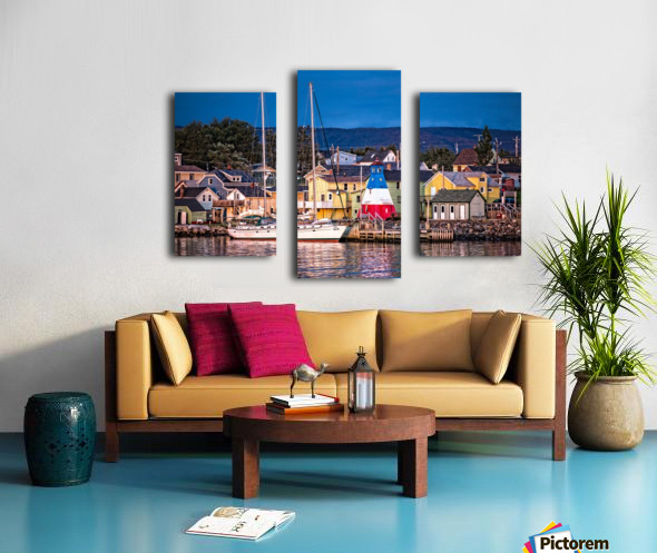 Cheticamp Waterfront Canvas print
