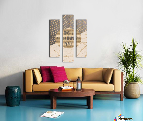 GRAPHIC ART This is my happy place Canvas print