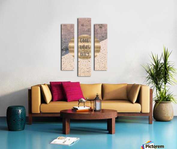 GRAPHIC ART Good vibes only Canvas print