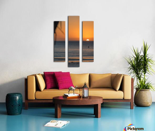 Taking a moment to watch the sunrise Canvas print