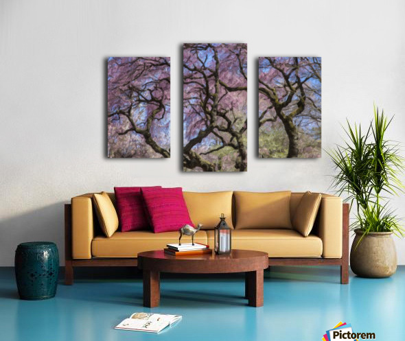 Abstract Cherry Blossom tree Canvas print