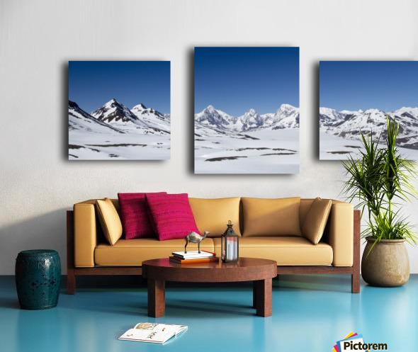 Mountain Range in South Georgia Canvas print