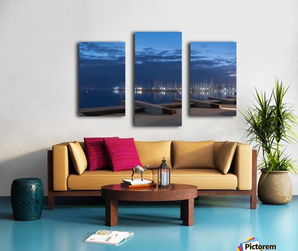 Blue Pre Dawn Marina Canvas print