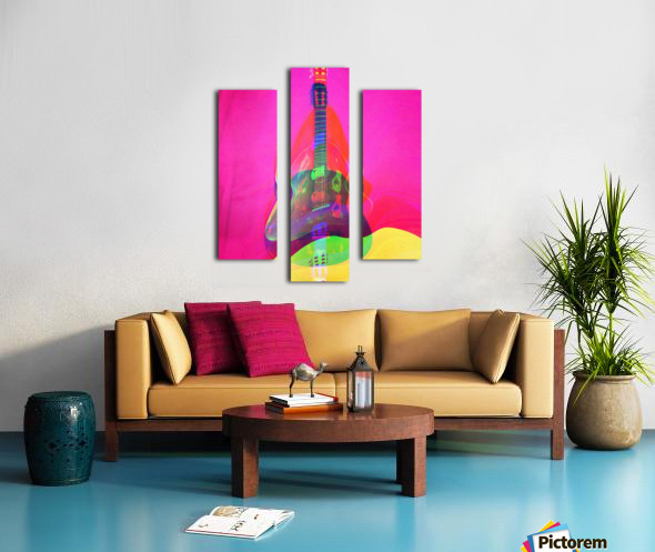 Guitar on Pink  Canvas print