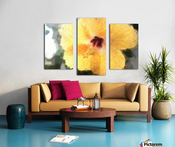 Lady Yellow Canvas print