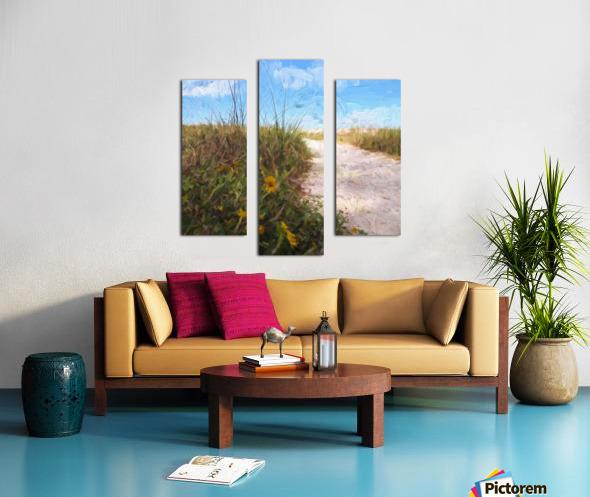 A Trail to the Beach Canvas print