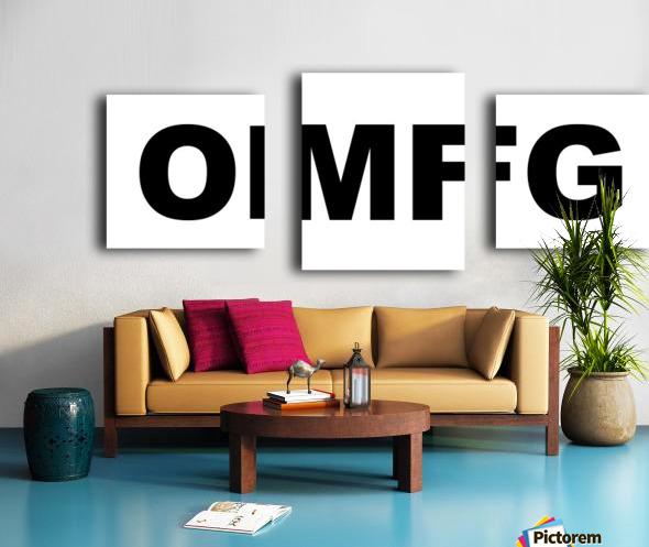 OMFG Canvas print